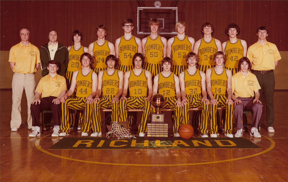 1970 State Championship Bomber Basketball Team Photo