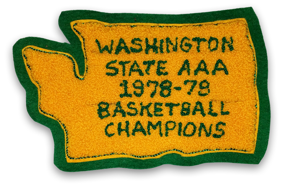 Washington State AAA 1978-79 Basketball Champions letterman's jacket patch